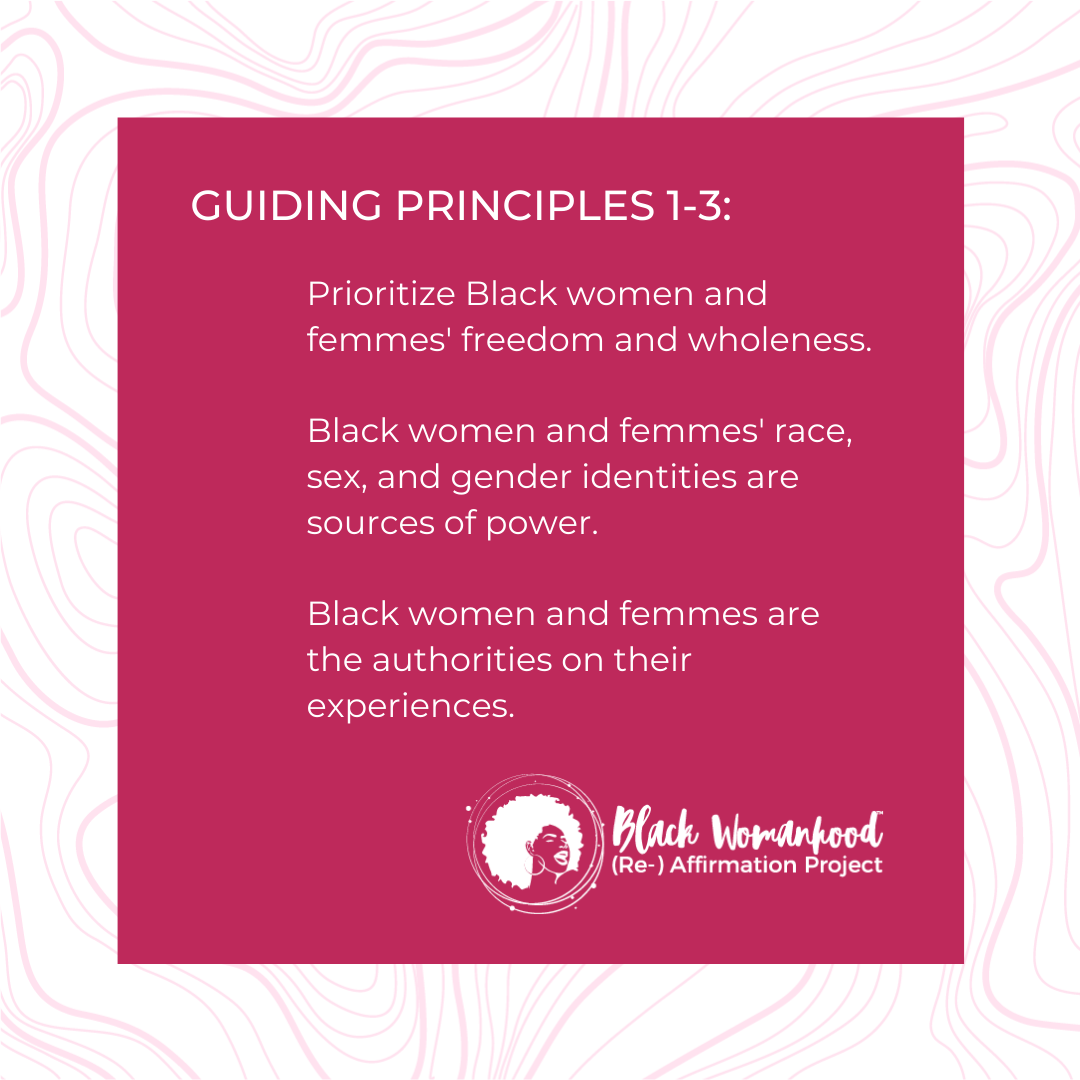 Black WRAP Guiding Principles 1-3